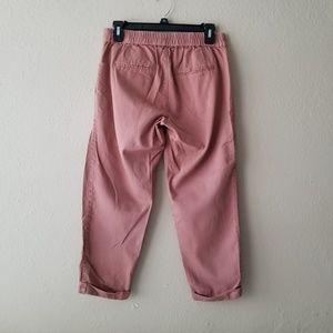 Old Navy Pants - Mauve Pink Cuffed Light Capri Pants